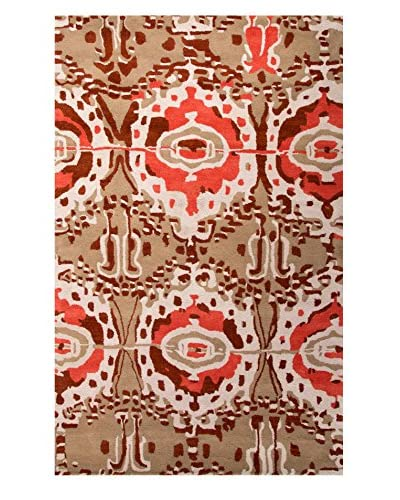 Jaipur Rugs Luli Sanchez Hand-Tufted Tribal Pattern Rug, Red/Taupe, 8' x 11'