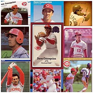 Cincinnati Reds Dave Concepcion 20 Card Lot