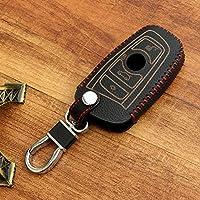 etopmia Car Remote Key Holder Case Cover,3D Wallet Key Remote Case fit BMW 2 3 4 5 6 7 Series Remote Smart Key Fob,Black Thread by etopmia