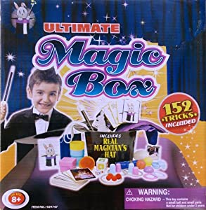 Ultimate Magic Set Box with 152 Tricks & Real Magician's Hat