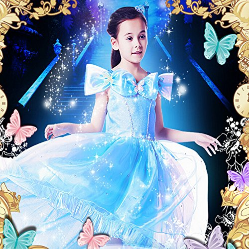 2015 New Cinderella dress girls dress princess dress butterfly