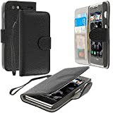 Motorola Droid Razr XT912 Case, TechSpec(TM) Black Leather Wallet Pouch Case Cover with Slots for Motorola Droid Razr XT912