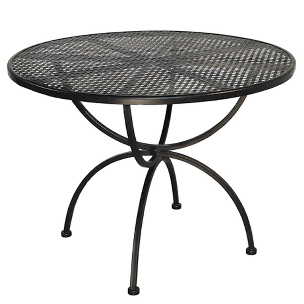 MBM 156137 Tisch Romeo, Durchmesser 100 x 73 cm, Eisengestell Plattenfarbe marone antik günstig online kaufen