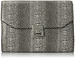 Ivanka Trump Hopewell Clutch, Black Snake, One Size