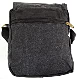 Unisex Travel / Work Canvas 'Small Messenger' Style Shoulder Bag (Black, Khaki, Green, Brown, Grey)