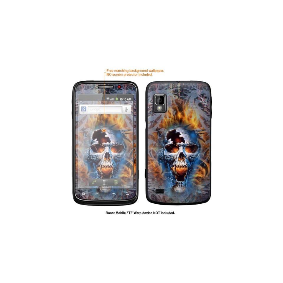 Protective Decal Skin Sticker for ZTE Warp  Boost Mobile version  case cover ZTEwarp 562