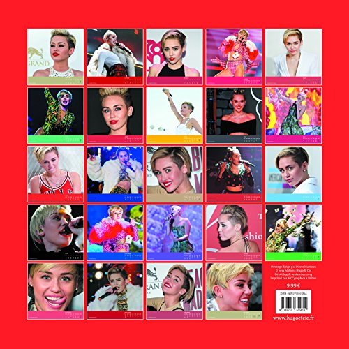 Calendrier mural miley cyrus 2015 boutique miley cyrus for Calendrier mural 2015