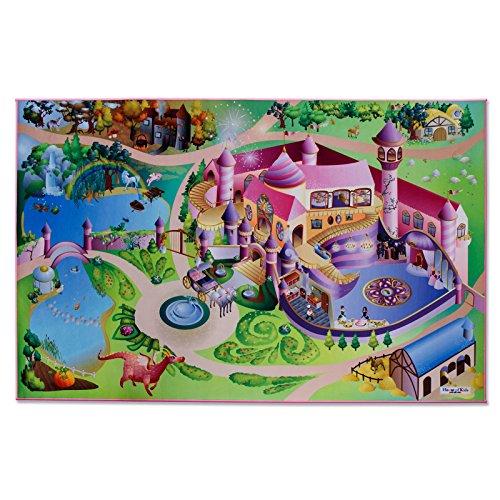 Floori® Spielmatte Im Märchen | Prinzessinnen Schloss | Phthalat-frei | erweiterbar zu einer riesigen Spiellandschaft | 100 x 150 cm