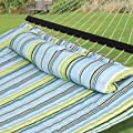 SueSport Hammock Quilted Fabric with Pillow Double Size Spreader Bar Heavy Duty from SueSport