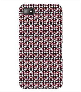 PrintDhaba Pattern D-5162 Back Case Cover for BLACKBERRY Z10 (Multi-Coloured)