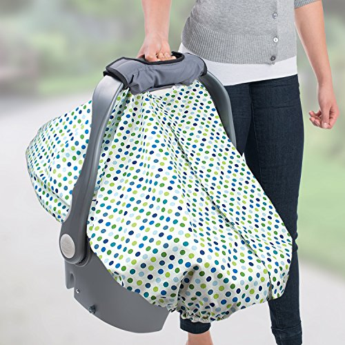 summer infant 2 in 1 carry and cover infant car seat cover white dots new fr ebay. Black Bedroom Furniture Sets. Home Design Ideas