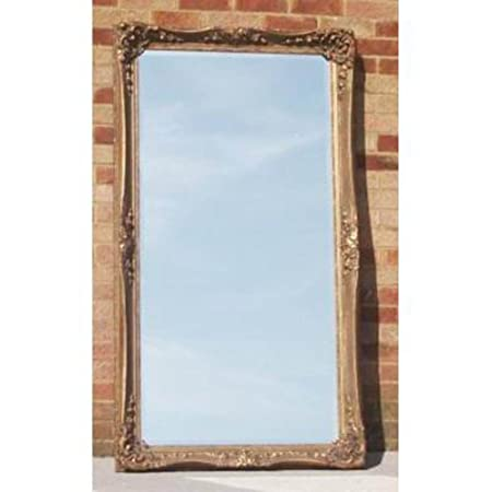 "Large Decorative California Full Length Gold Mirror (3ft 1"" x 5ft 7"")"