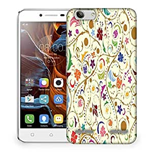 Snoogg Colorful Floral Designer Protective Phone Back Case Cover For Lenovo K5 Vibe