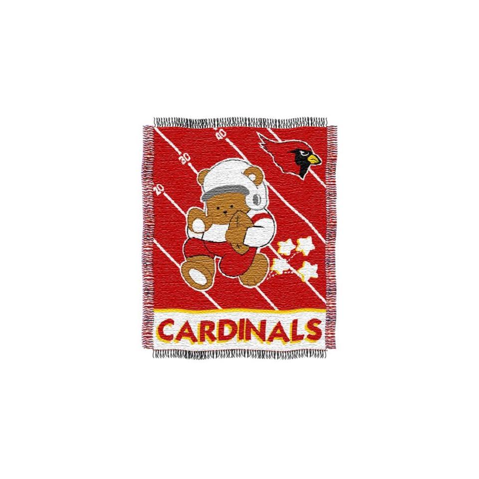 NFL Arizona Cardinals Woven Jacquard Baby Throw Blanket