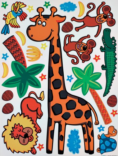 Brewster Spirit 350-0113 Peel & Stick Giraffe European Wall Decals
