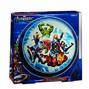 """Franklin Sports Marvel The Avengers 8.5"""" Rubber Playground Ball"""