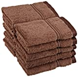 Superior Egyptian Cotton 10-Piece Face Towel Set, Mocha