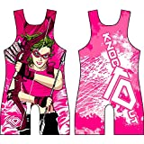 KO Sports Gear's Pink Arrow Wrestling Singlet