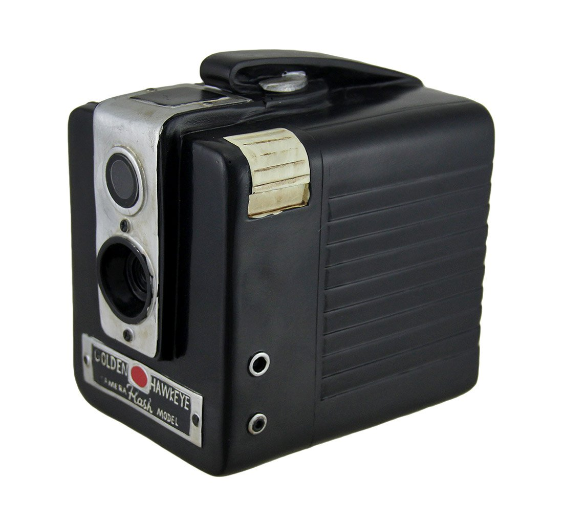 Retro Brownie Hawkeye Vintage Style Camera Coin Bank 1