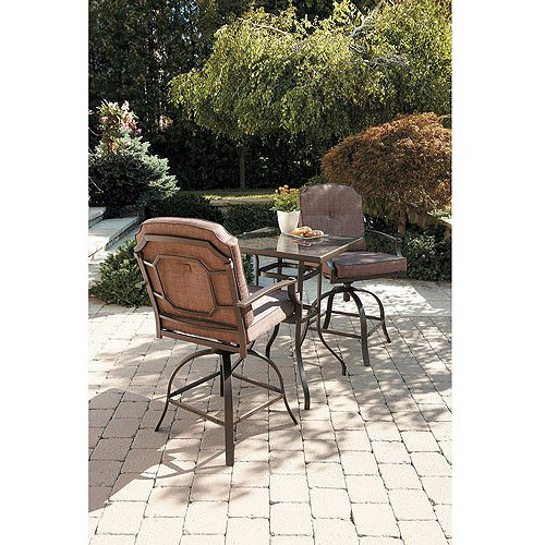 Mainstays Wentworth 3-Piece High Outdoor Bistro Set, Seats 2 picture