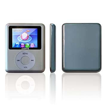 Amazon.com: LONVE 8GB Silver MP3/MP4 Player 1.81'' Screen MP4 ...