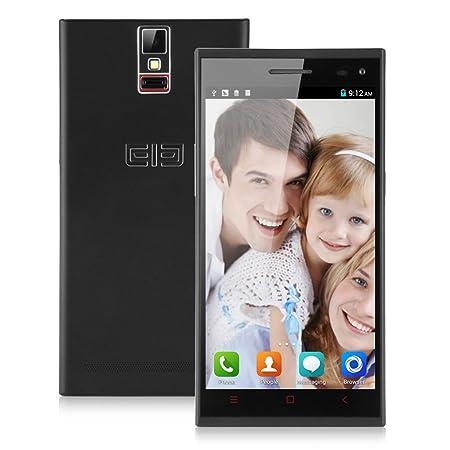 ELEPHONE P2000 Smartphone avec Housse équipé de Grande 5,5 Pouce HD IPS Ecran 2Go RAM+16Go ROM Octa Core MTK6592 1,7GHz Google Android 4.4 KitKat WIFI GPS Bluetooth OTG NFC Fingerprint-résolution 1280x720 mégapixel- Noir -d&eac