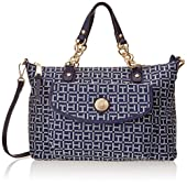 Tommy Hilfiger Coin with Chain Monogram Jacquard Convertible Shopper Shoulder Bag