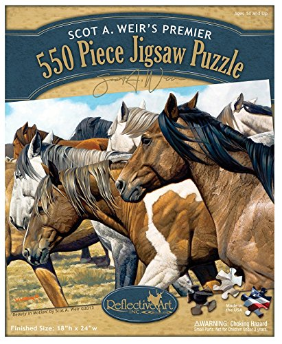 Reflective Art Beauty in Motion 550-Piece Jigsaw Puzzle Set