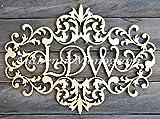 Wooden VICTORIAN FRAME MONOGRAM PAINTED Monogram, Home Decor, Wedding Decor,Initial Monogram, Door Hanger, Guarden 91117P* (18