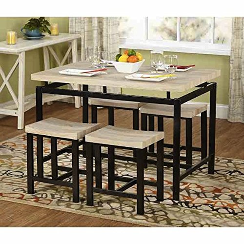 Simple Living Delano Two-tone 5-piece Wood Dining Set
