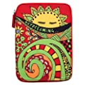 PUNCHCASE Ace Zip Around Red Daydreaming, Custodia con cerniera, colore: Rosso (adatta per Kindle Paperwhite, Kindle e Kindle Touch)