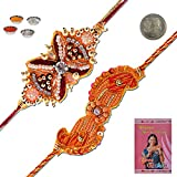 Little India Handcrafted Fancy Zardosi Work Designer Rakhi Gift 307