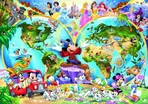 Cheap Ravensburger Spieleverlag Disney World Map 1000 Piece Jigsaw Puzzle Featuring the entire Disney Family: Disney Princess, Donald Duck, Mickey Mouse, Peter Pan and many more! (B0000AP6EJ)