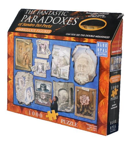 The Fantastic Paradoxes of Sandro Del-Prete Ambiguous Figues 1000 Piece Puzzle With Free Poster