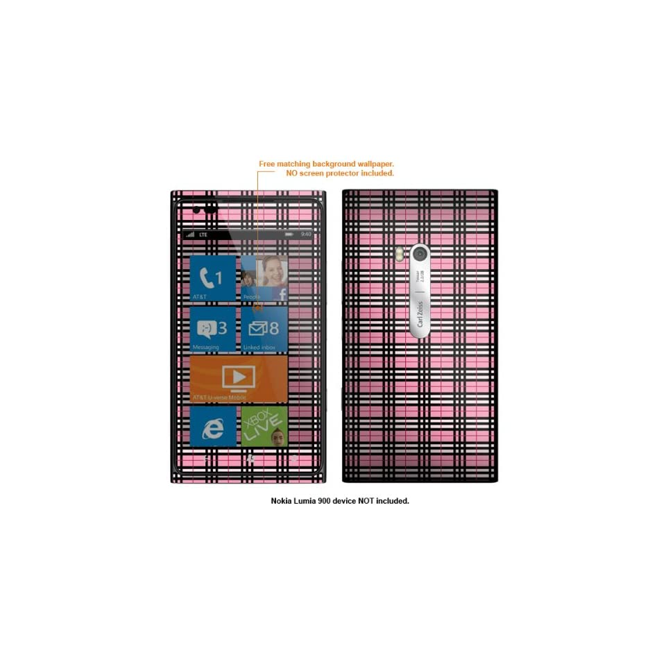 Protective Decal Skin Sticker for Nokia Lumia 910 & AT&T Lumia 900 case cover Lumia900 609 Cell Phones & Accessories