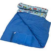 Wildkin Olive Kids Trains Planes & Trucks Sleeping Bag