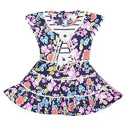 Rush Me Baby Girls' Dress (S.R.2005_5 Years, 5 Years, Rani)