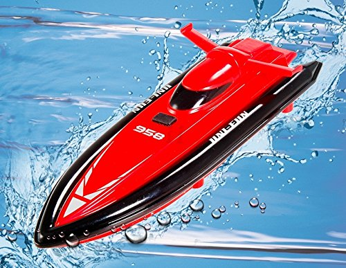 Huanqi 958 Full Azimuth Water Anti-Inflowing Sealing Wireless Rc Toy Boat (Red)