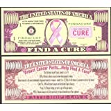 Find a Cure Breast Cancer MILLION DOLLAR Novelty Bill Collectible