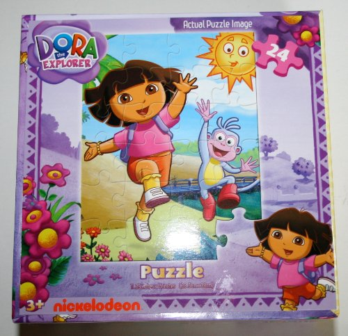 Cheap Cardinal Dora The Explorer 24 Piece Puzzle – Dora and Boots at the Beach (B0035YNFO6)