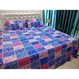 JMT(100% Heavy Stuff Pure Cotton Double Bedsheet With 2 Pillow Cover,size -230x250 Cms, Pillow - 69x46 Cms)