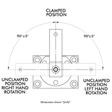 DE-STA-CO 8315 Pneumatic Swing Clamp