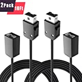 2Pcs Pack TPFOON 3M 10FT Extension Cable Extender Cord for Nintendo Super NES SNES/NES Classic Mini Edition Controller (Tamaño: 2pcs)