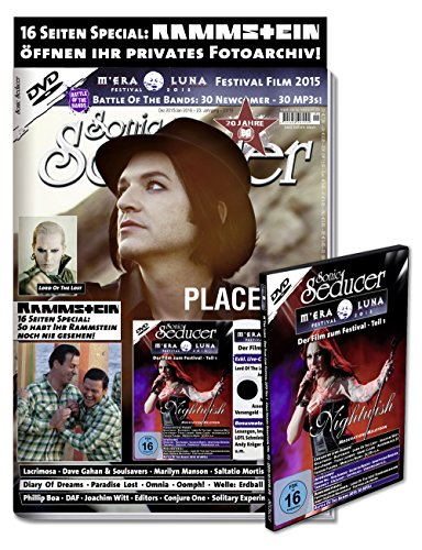 Sonic Seducer 12-2015/01-2016 + 16 S. Rammstein Special + DVD: M'Era Luna 2015 - Der Film, Teil 1 mit exkl. Live-Videos + 4 Postkarten, Bands: Placebo, Marilyn Manson, Blutengel, Nightwish u.a.