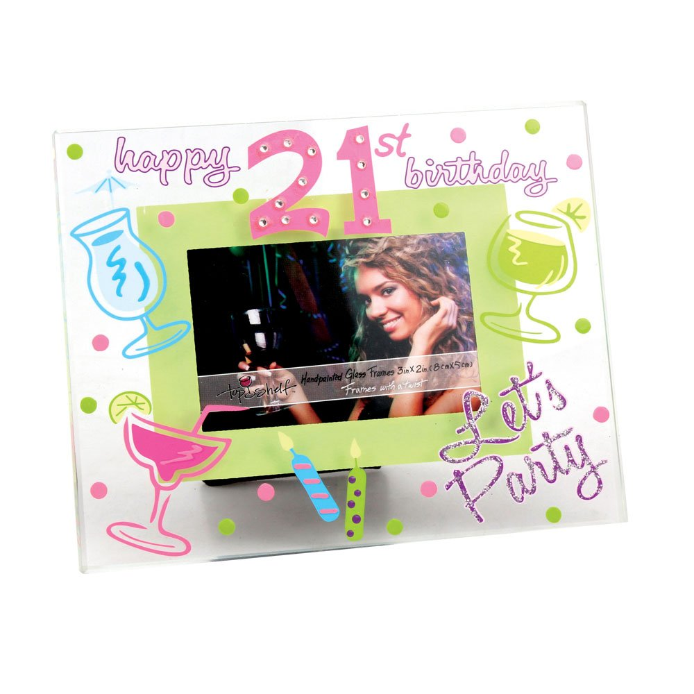 21st Birthday Glass Frame