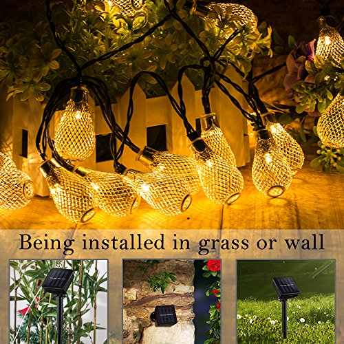 Indoor String Lights Nz : Solar Powered String Lights 20 Led Vase Shape 2 Modes Waterproof Warm White Solar String Lights ...
