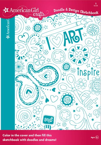 American Girl Crafts Doodle Design Sketchbook, Art (Books For 12 Year Old Girls compare prices)