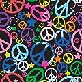 Jillson Roberts 1/4 Ream Recycled Gift Wrap, Blacklight Peace, 208-Feet x 30-Inch (B285.25)
