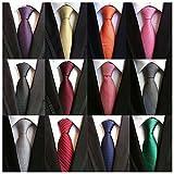 Weishang Lot 12 PCS Classic Men's 100% Silk Tie Necktie Woven JACQUARD Neck Ties(Style 7)