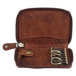 Slim Compact Key Holder Key Pouch High Quality Leather gifts